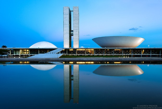 Congresso Nacional at Dusk , Brasilia